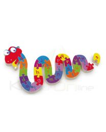 Puzzle para encajar, Serpiente ABC (Small Foot-cod.6235)